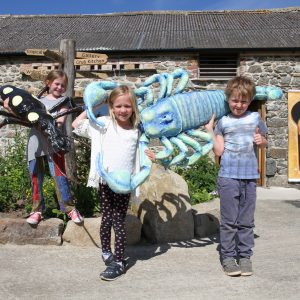 Some of the amazing sculptures on display at The Bug Farm, made by Martina Morgan